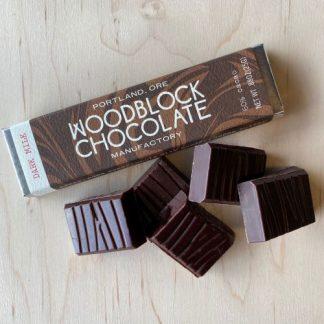 Woodblock Dark Milk Chocolate Bar