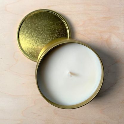 Soy Candle - Gold 8oz Tin