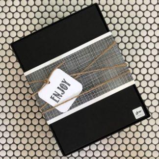 Black Glow Gifts Box with Twine Wrap