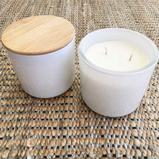 Glow Gifts Soy Candle in White Glass