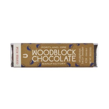 Woodblock Coffee Milk Chocolate Bar