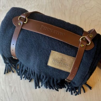 Pendleton Blanket & Leather Carrier
