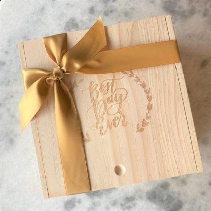 Best Day Ever Wood Keepsake Box